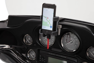 Smartphone Mount on Motorcycle