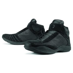 Black Icon Motorcycle Shoes