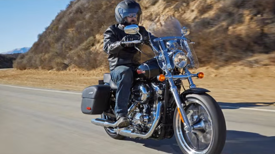 Touring on a Harley Sportster