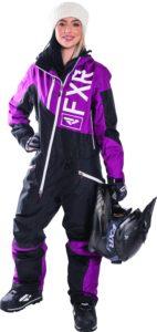 Womens Purple Snowmobile Mono Suit